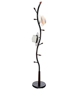 eHomeProducts CH-83019 Metal Walnut Wood Hall Tree Coat Hat Rack