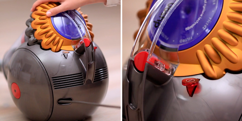 Dyson Big Ball Multi Floor Canister Vacuum in the use