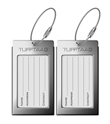 ProudGuy TUFFTAAG Luggage Tags Business Card Holder, Aluminum