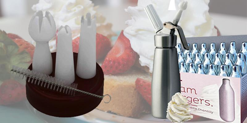 Whip'n'Cream WC-1Pt Combo Whipped Cream Dispenser in the use