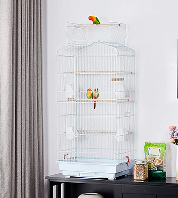 Review of Yaheetech 41-inch Open Top Medium Parakeet Bird Cage