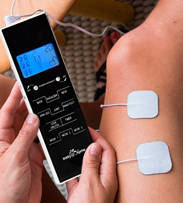 Review of Easy@Home EHE010 Electronic Pulse Massager (Backlit LCD Display, Soft Touch Keypad)