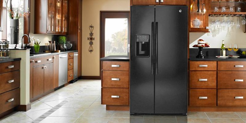 Detailed review of GE 25.4 Cu.Ft. Side-By-Side Fridge, Black