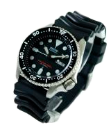 Seiko SKX007K Men's Automatic Analogue Watch with Rubber Strap