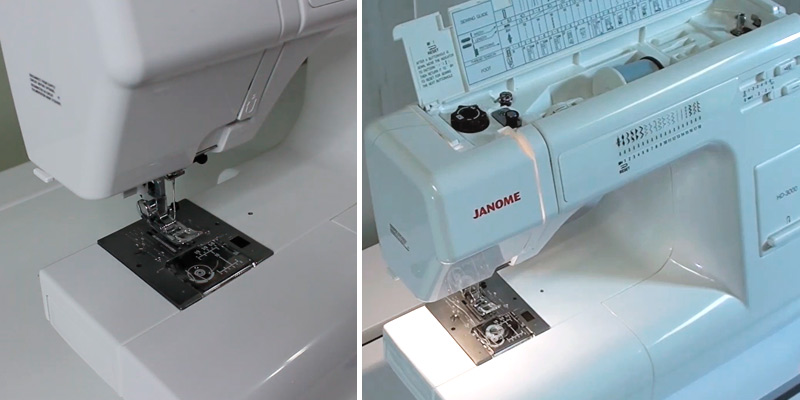 Janome HD3000 Heavy-Duty Sewing Machine in the use