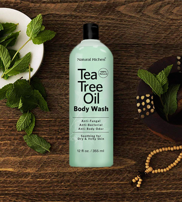 Review of Natural Riches TeaTree Oil Body Wash Antifungal, Peppermint & Eucalyptus Oil Antibacterial Soap