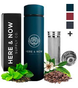 Here & Now Supply Co. 16 oz Multi-Purpose Travel Mug and Tumbler | Tea Infuser Water Bottle