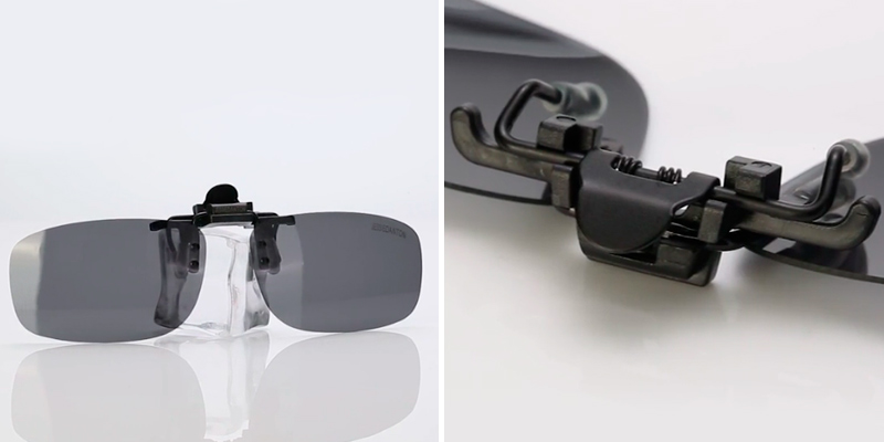 Review of CAXMAN JD7301-S Polarized Clip-on Flip Up Metal Clip Rimless Sunglasses for Prescription Glasses