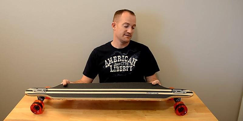 Rimable Drop-through Longboard in the use
