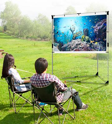 Review of JaeilPLM Flicker-free Portable Outdoor Projection Screen