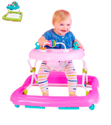Bright Starts Floral Friends Walker with Easy Fold Frame