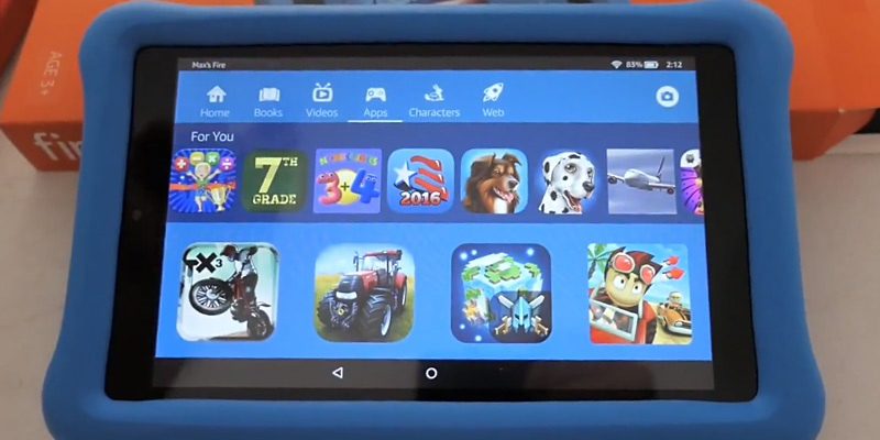 Amazon Fire HD 8 Kids Edition Tablet in the use