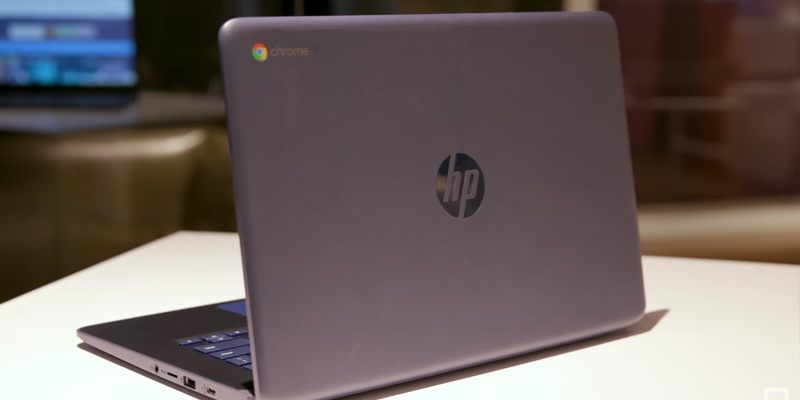 "HP (14-db0020nr) 14"" Chromebook (AMD A4-9120, 4GB SDRAM, 32GB eMMC) in the use"