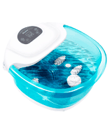 MaxKare SG_B07BT611XV_US Foot Spa/Bath Massager with Heat Bubbles Vibration 3 in 1 Function, 4 Masssaging Rollers Pedicure Tired Feet Stress Relief Help