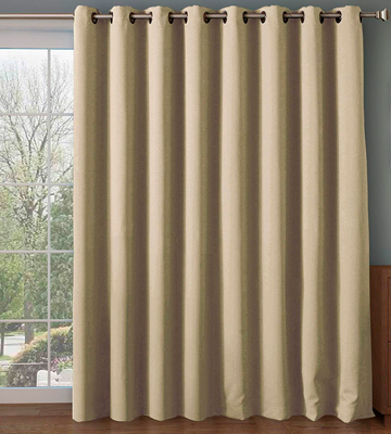 Review of Rose Home Fashion FBA_bl-be-10084 Wide Thermal Blackout Patio Door Curtain Panel