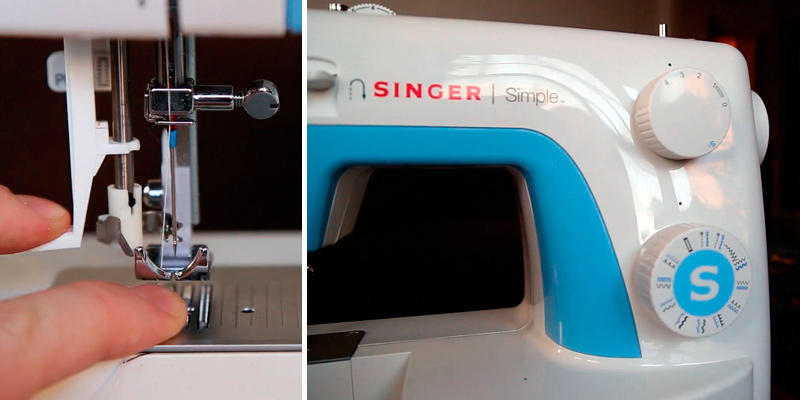 SINGER 3221 Simple Sewing Machine in the use