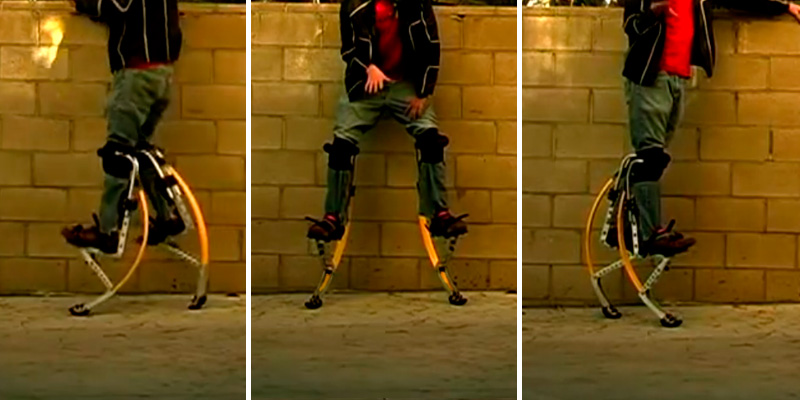 ZGUO Adult Kangaroo Jumping Stilts in the use