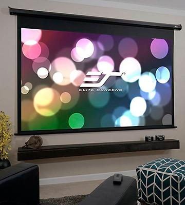 Review of Elite Screens 4K Home Theater Electric Motorized Projector Screen