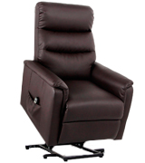 Esright Power Lift Chair Wall Hugger PU Leather with Remote Control
