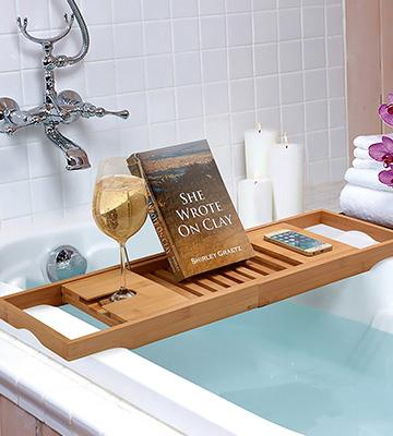 Review of Belmint 100% Bamboo Bathtub Caddy