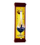 Ambient Weather WS-YG634 Antique Storm Glass Barometer with Cherry Wood Frame