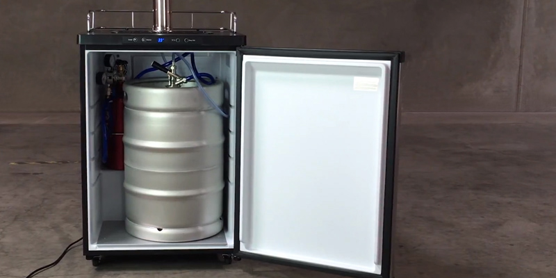 Kegco K309SS-2 Kegerator Digital Beer Keg Cooler Refrigerator in the use
