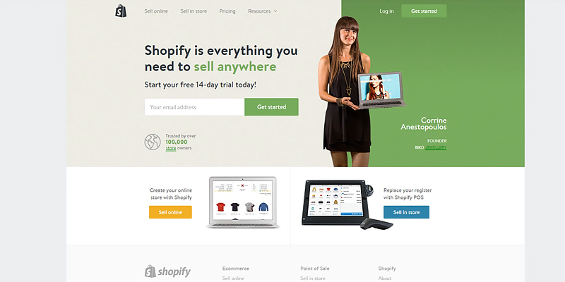 Shopify Website Builder in the use