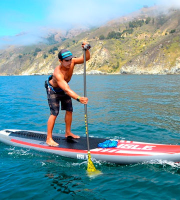 Review of ISLE Surf and SUP Touring Inflatable Stand up Paddle Board