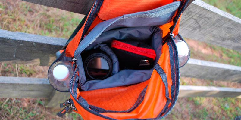 Outlander Travel Hiking Backpack in the use