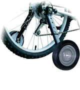 BikeHard Adjustable 20-26 Training Wheels