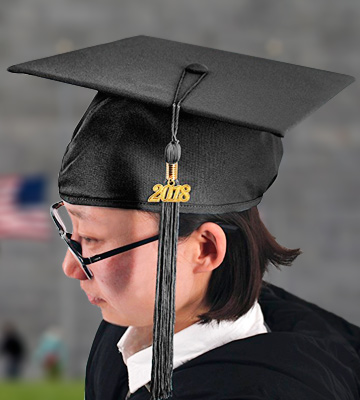 Review of GraduationMall Unisex Adult Matte Graduation Cap with Tassel 2018