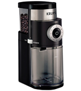 KRUPS GX5000 Professional Electric Coffee Burr Grinder, Black
