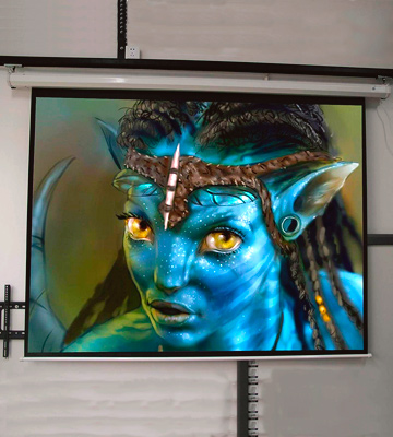 "Review of Homegear LYSB00J22TNRI-ELECTRNCS 100"" HD Motorized 16:9 Projector Screen"