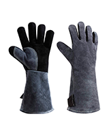 OZERO Leather Heat Resistant Grill BBQ Gloves