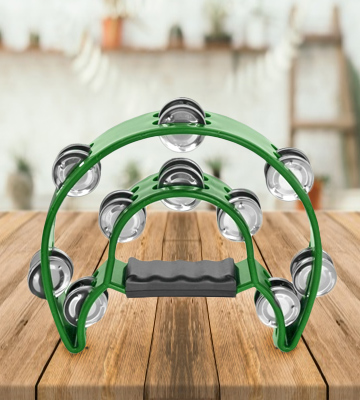 Review of Flexzion FBA_DHLF_MN_DRM_GRN Double Row Tambourine
