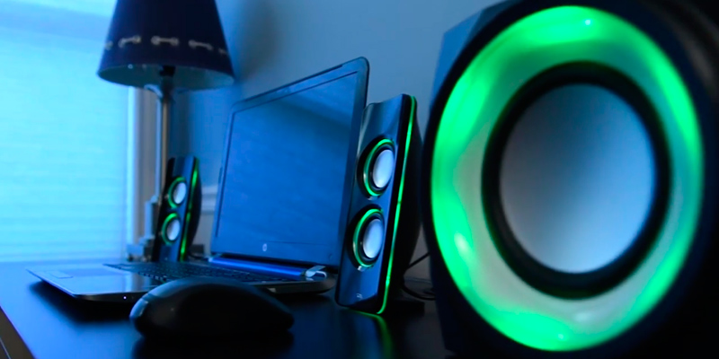 Cyber Acoustics CA-SP34BT Bluetooth Speakers in the use