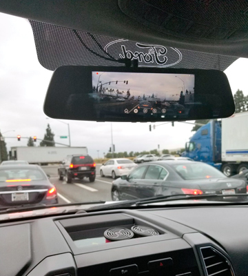 Review of Pruveeo D700 Touch Screen Mirror Dash Cam (Front 1080p & Rear View)