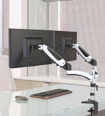 Review of HUANUO HN-DSK1-1 Dual Monitor Mount (Fits 2 up to 27)