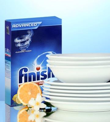 Review of Finish Powder Dishwasher Detergent, 50 Ounces