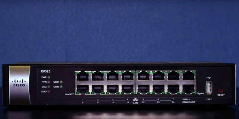 Cisco Systems RV325K9NA Gigabit Dual WAN VPN Router application