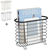 MetroDecor FBA_1756MDBST mDesign Newspaper and Magazine Rack for Bathroom