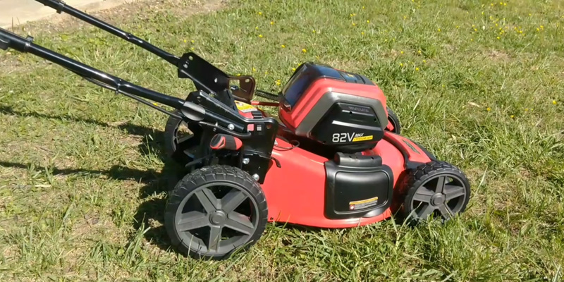 "Snapper XD 82V MAX Cordless Electric 21"" Push Lawn Mower in the use"