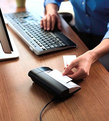 5 best business card scanners reviews of 2018 bestadvisor review of dymo 1760686 business card scanner reheart Images