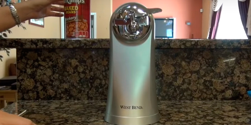 West Bend 77203 Electric Can Opener in the use