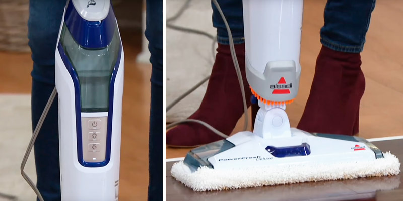 Bissell 1806 Powerfresh Deluxe Steam Mop in the use