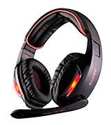 GW SADES SA902Red Surround Stereo Wired PC Gaming Headset Over Ear Headphones