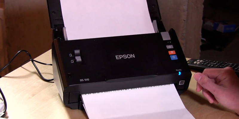 Epson DS-510 WorkForce Color Document Scanner in the use