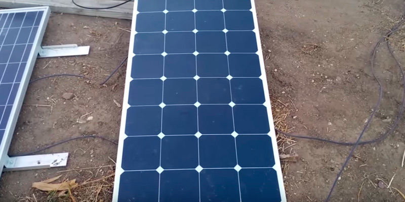 KINGSOLAR Semi Flexible Solar Panel in the use