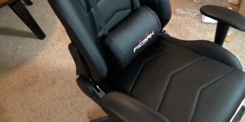 Ficmax RE-FX-007 Gaming Chair (with Footrest, Bucket Seat and Lumbar Support) in the use
