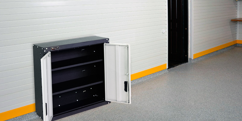 Homak GS00727021 2 Door Wall Cabinet with 2 Shelves, Steel in the use